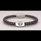 Le bracelet arbre de vie en galuchat gris