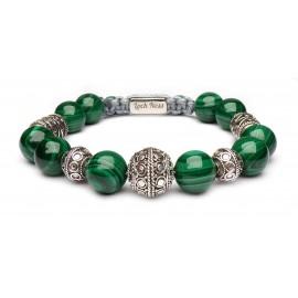 Le bracelet fil coulissant Malachite
