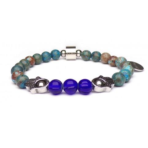 bracelet main de fatma pierres perles