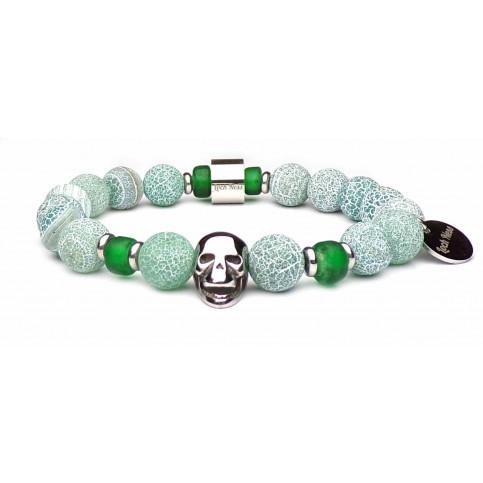 bracelet tete de mort perles