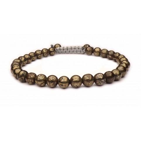 bracelet shamballa pyrite