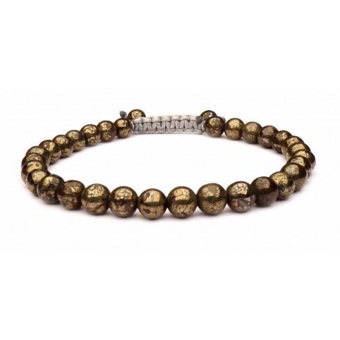 bracelet pierre pyrite