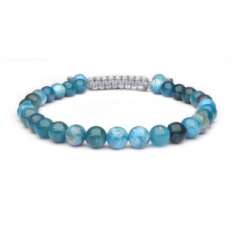 bracelet perles 6mm Apatite