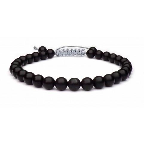 bracelet pierre noir homme