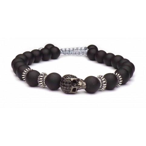 bracelet tete de mort noir