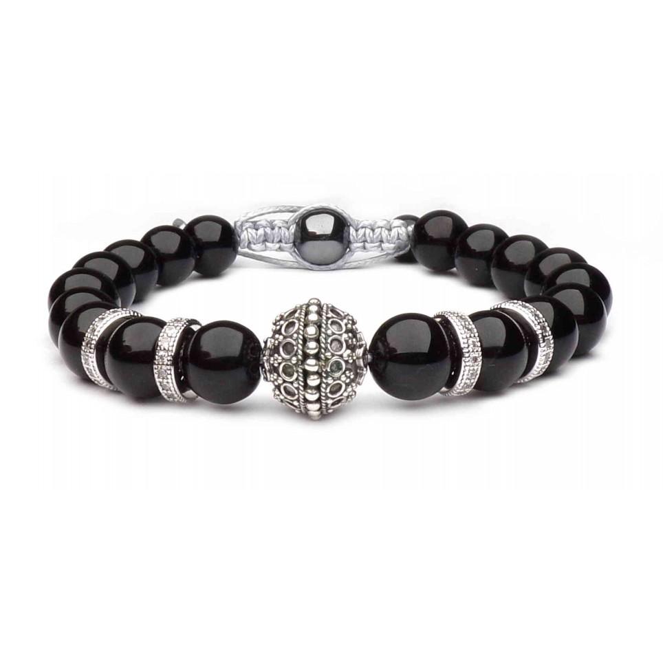 bracelet shamballa pierres noir