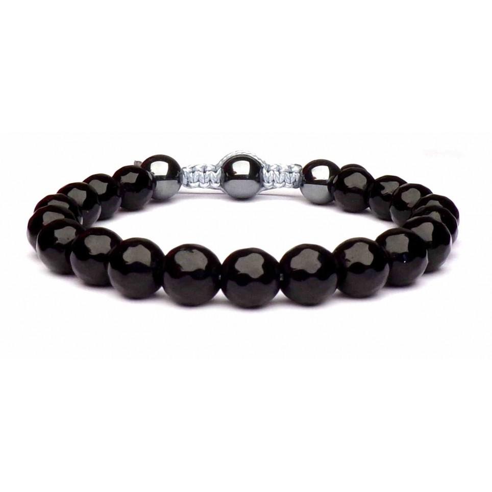 bracelet boules noir