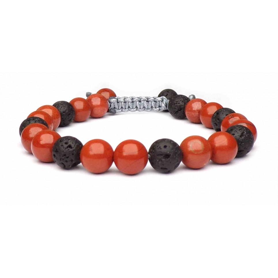 bracelet porte bonheur en pierres colorés