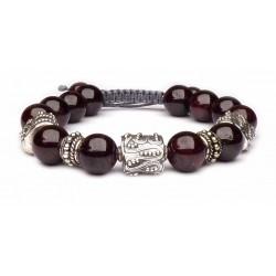 Bracelet en pierre grenat porte-bonheur