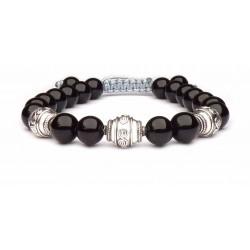Le bracelet Obsidienne et argent