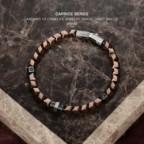 bracelet perles hématite homme