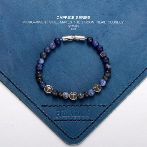 bracelet perles ancre homme