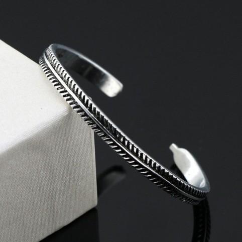 Bracelet ouvert vintage en argent 925