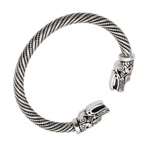 Bracelet viking loup en argent pour homme