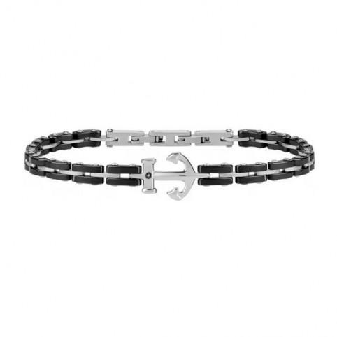 bracelet acier et ancre homme