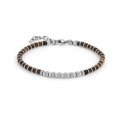 bracelet acier et perles femme et homme