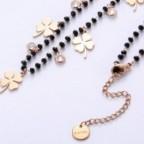 collier brelque trèfle 4 feuilles femme