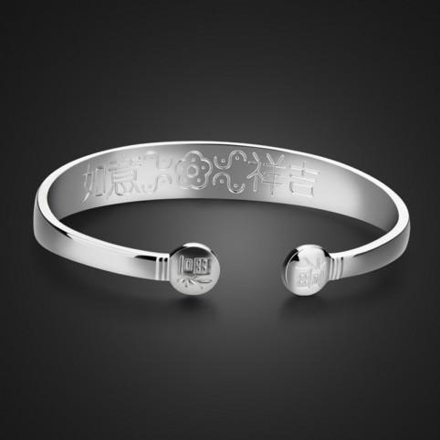 bracelet jonc argent femme