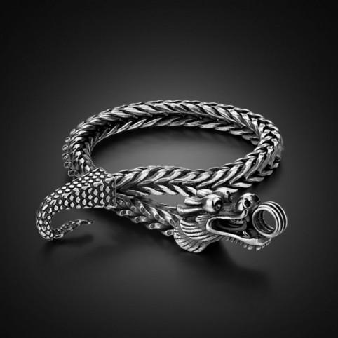 bracelet dragon argent homme