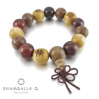 bracelet bouddhsite en bois