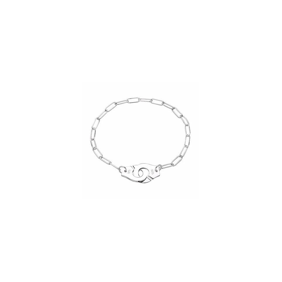 bracelet argent menottes