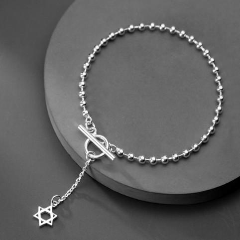 bracelet argent étoile de David femme