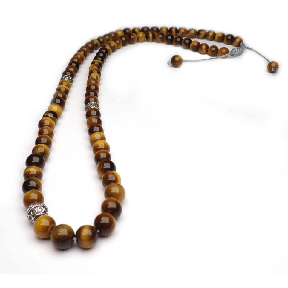 collier shamballa Oeil de tigre