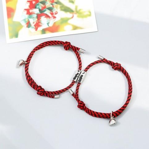 Bracelet aimant couple en cordon