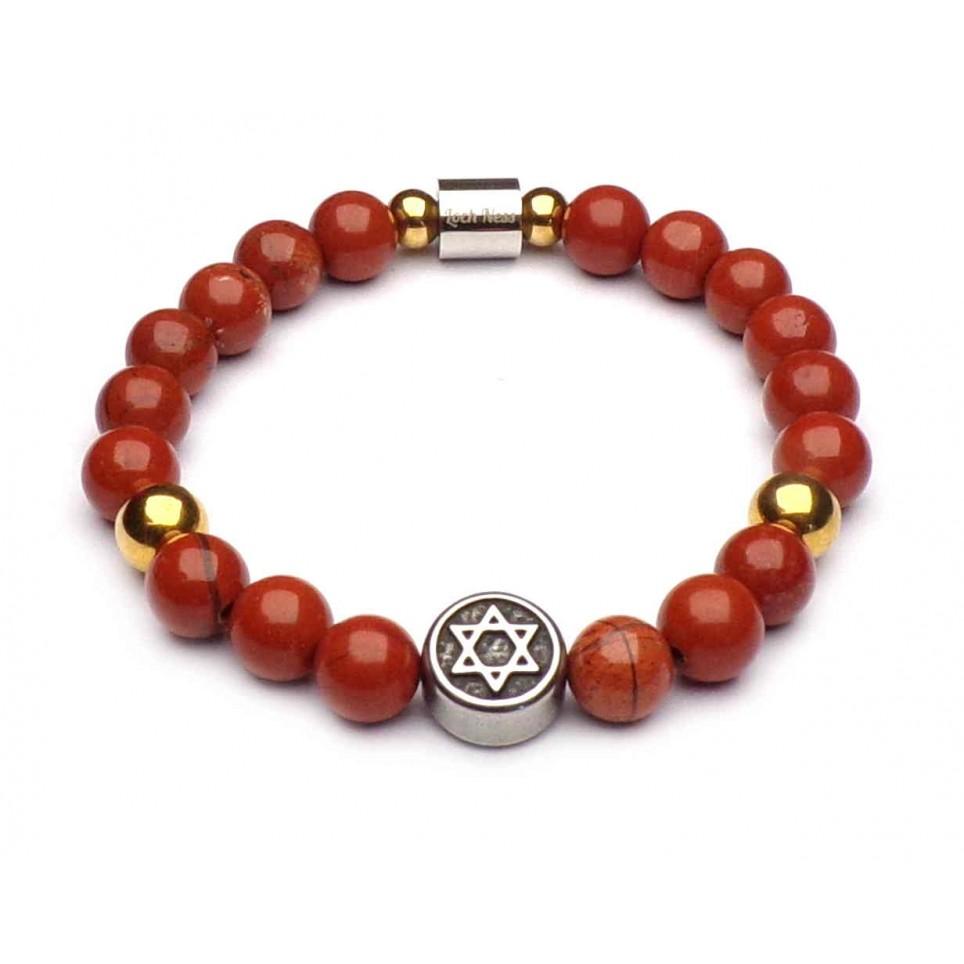 bracelet étoile de Salomon perles