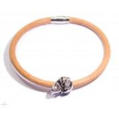 Vampire 1 - Bracelet créateur en cuir avec crane XL