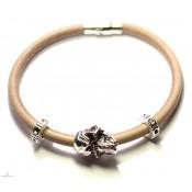 Zombi 1 + - Bracelet créateur en cuir avec crane XL