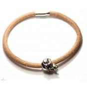 Bracelet créateur en cuir avec tet vampire