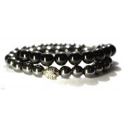 bracelet mala bouddhiste noir