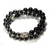 bracelet bouddhiste en hématite
