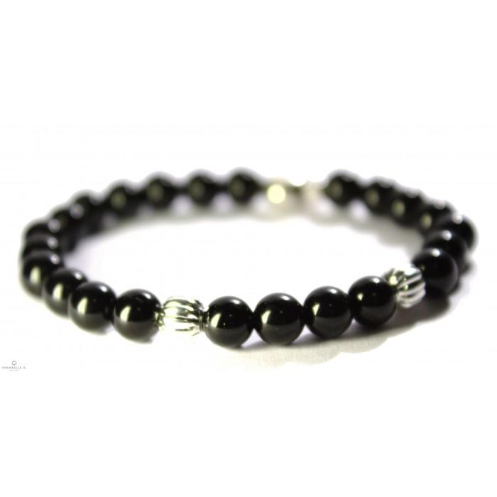bracelet mala tibetain noir