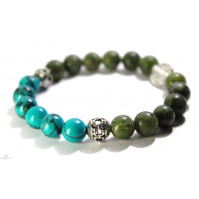 bracelet mala bouddhiste avec argent