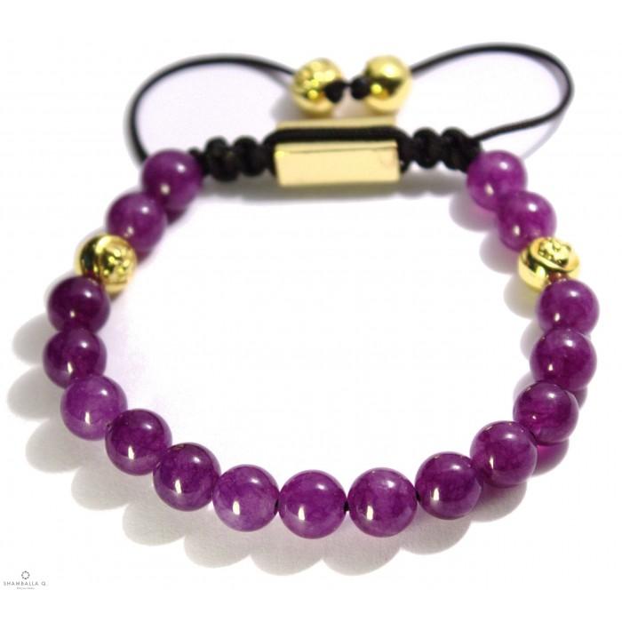 bracelet shamballa en améthyste