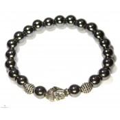 bracelet mala bouddhiste en hématite