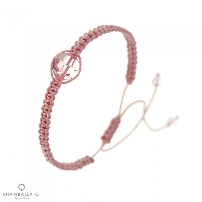 bracelet shamballa swarovski rose