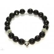 bracelet tibetain mala onyx et argent