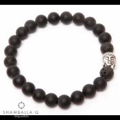 Bracelet mala tibetain en onyx