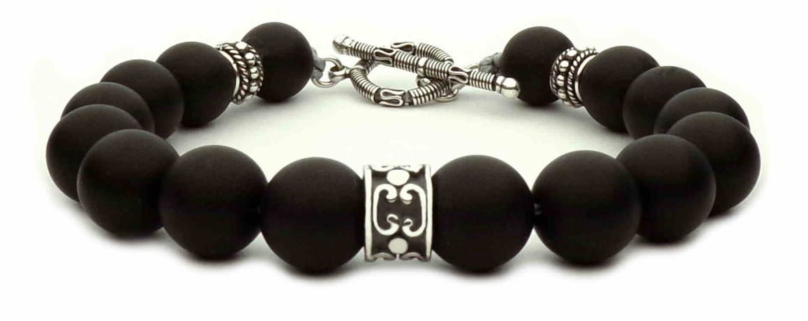 black pearls man bracelet