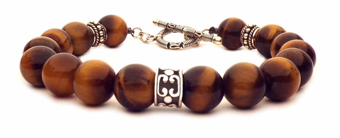 Tiger eye bracelet clasp in t
