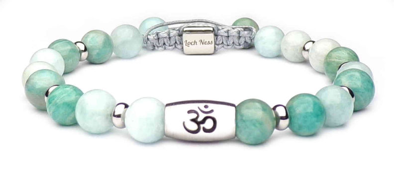 stones bracelet with om symbol