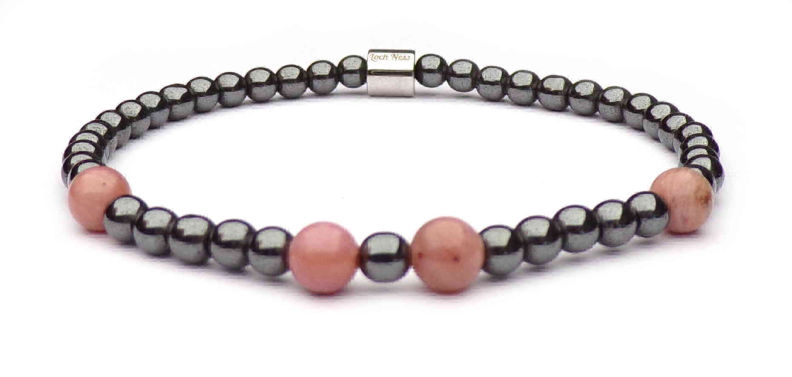woman bracelet symbol rhodonite