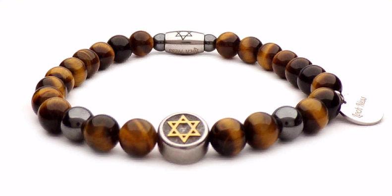 bracelet symbole étoile de david