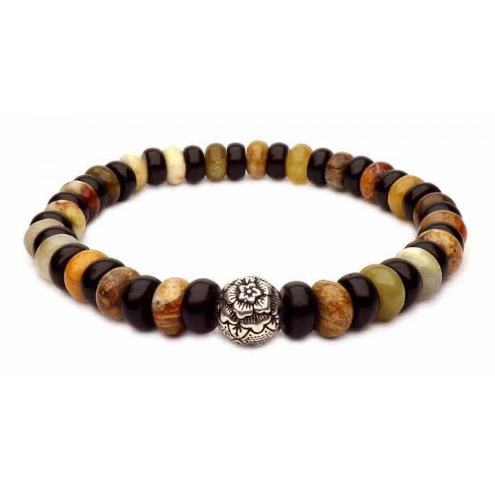 le bracelet perles plates