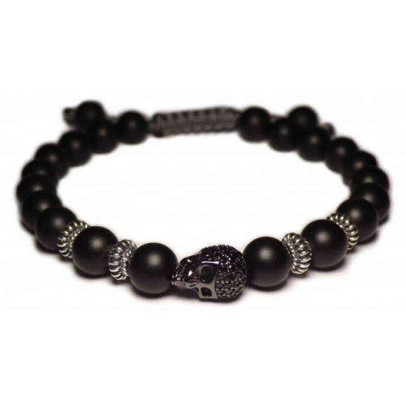 bracelet skull noir homme