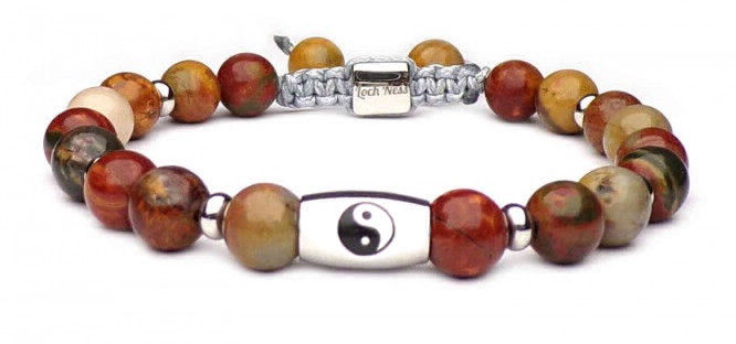 stone bracelet symbol yin yang