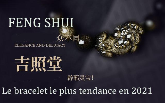 bracelets feng shui obsidienne noire